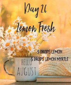 lemon fresh diffuser blend
